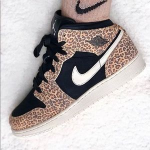 Leopard air Jordan's mids